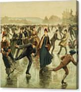Ice Skating, C1886 Canvas Print
