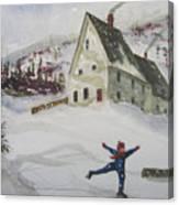 Ice Skating Canvas Print