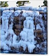 Ice Water Fall Canvas Print