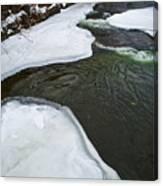 Ice Whirlpool Canvas Print