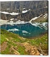 Iceberg Lake Glacier Canvas Print