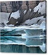 Iceberg Lake Icebergs Canvas Print