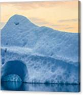 Iceberg On The Jokulsarlon Glacial Canvas Print