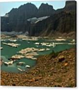 Icebergs Below Grinnell Glacier Canvas Print