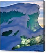 Iceberg's Glow - Mendenhall Glacier Canvas Print