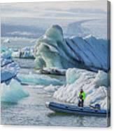 Icebergs On Jokulsarlon Lagoon In Iceland Canvas Print