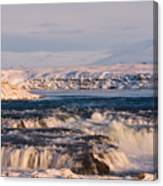 Icecold Waterfall Canvas Print