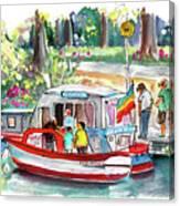 Icecream Boat In York Canvas Print