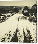 Iced Over Road Canvas Print