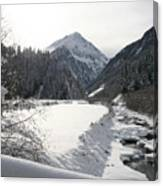 Iced River Canvas Print