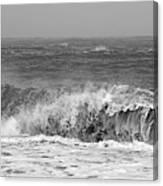 Iceland Black Sand Beach Wave One  Canvas Print