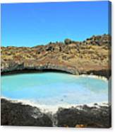 Iceland Blue Lagoon Exploring The Lava Fields Canvas Print
