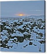 Iceland Lava Field Sunrise Mountains Clouds Iceland 2 2112018 1024jpg Canvas Print