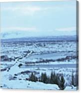 Iceland Mountains Lakes Roads Bridges Iceland 2 2112018 0945 Canvas Print