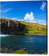 Iceland panorama shot Kirkjufell Canvas Print