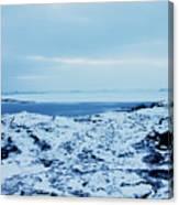 Iceland Rocks Lake Clouds Iceland 2 2112018 0935 Canvas Print