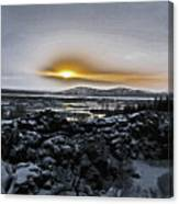 Iceland Sunrise Iceland Lava Field Streams Sunrise Mountains Clouds Iceland 2 2112018 1095.jpg Canvas Print