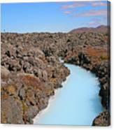 Iceland Tranquil Blue Lagoon  Canvas Print