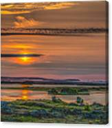 Icelandic Sunset Canvas Print