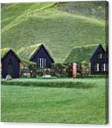 Icelandic Turf Homes Canvas Print