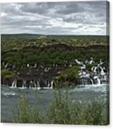 Icelandic Waterfall Canvas Print