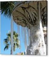 Icicles In A Palm Filled Sky Number 1 Canvas Print
