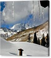 Icicles In East Vail Canvas Print