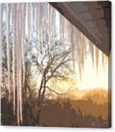 Icicles One Canvas Print
