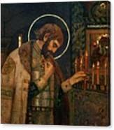 Icon Of Reverend Prince Alexander Nevsky. Saint Petersburg Canvas Print
