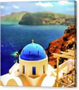 Iconic Anastaseos Oia Santorini Greece Canvas Print
