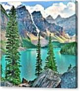 Iconic Banff National Park Attraction Canvas Print