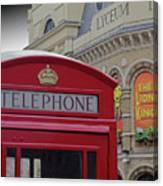 Iconic Postbox And Lyceum Theatre Canvas Print