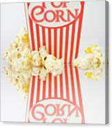 Iconic Striped Popcorn Carton Canvas Print