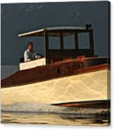 Iconic Wooden Runabout Canvas Print