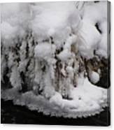 Icy Bank Canvas Print