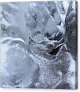 Icy Creek Forms In Pocono Mountains Canvas Print