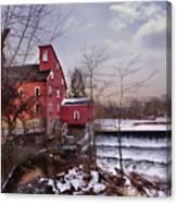 Icy Falls Canvas Print