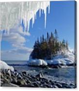 Icy Island View Canvas Print