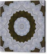 Icy Lace Kaleidoscope Canvas Print