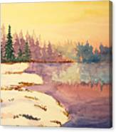 Icy Lake Canvas Print