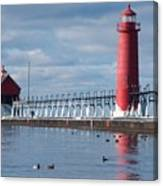 Icy Lighthouse Canvas Print