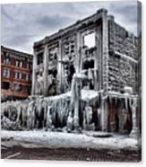 Icy Remains - After The Fire Canvas Print