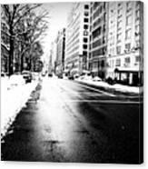 Icy Snow Canvas Print