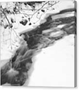 Icy Swath Canvas Print