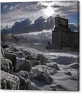 Icy Tundra In Buffalo Canvas Print