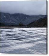 Icy Viewpoint On Silverwood Lake Canvas Print