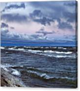 Icy Waters Of Superior Canvas Print