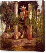 Idyll Pan Amidst Columns 1875 Canvas Print