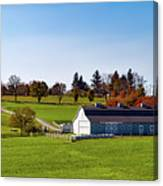 Idyllic Autumn Farm Canvas Print