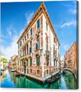 Idyllic Canal In Venice Canvas Print